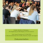 Foto Titelblatt Dokumentation Care Leaver Hearing