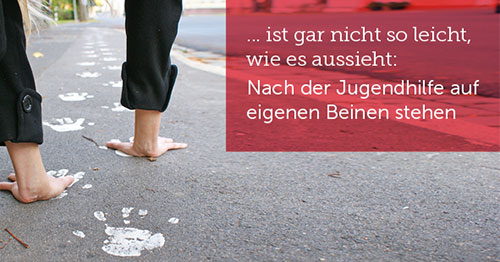 Foto mit Text ... ist gar nicht so leicht, wie es aussieht, auf eigenen Beinen zu stehen
