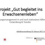 Titelblatt der Projektpraesentation Gut begleitet ins Erwachsenenleben